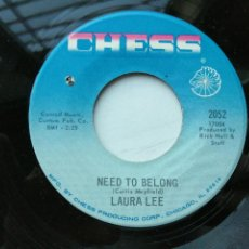 Disques de vinyle: LAURA LEE – NEED TO BELONG - SINGLE USA 1968 FUNK SOUL VG++. Lote 236021505