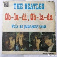 Discos de vinilo: THE BEATLES, OB-LA-DI, AB-LA-DA / WHILE MY GUITAR GENTLY WEEPS, AÑO 1969, ODEON, OSL 203. Lote 236023020