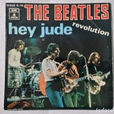Discos de vinilo: THE BEATLES, HEY JUDE / REVOLUTION, AÑO 1968, ODEON, DSOE 16.740. Lote 236024390