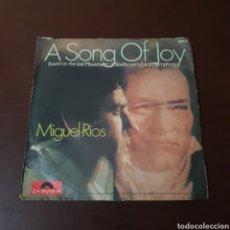 Discos de vinilo: MIGUEL RIOS - A SONG OF JOY - NO SABES CÓMO SUFRI - POLYDOR EDICION ALEMANIA. Lote 236029640