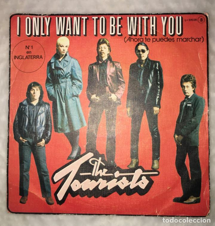 DISCO SINGLE THE TOURISTS - I JUST WANT TO BE WITH YOU-LOGO RECORDS L-37026B (Música - Discos de Vinilo - Singles - Pop - Rock Extranjero de los 80)