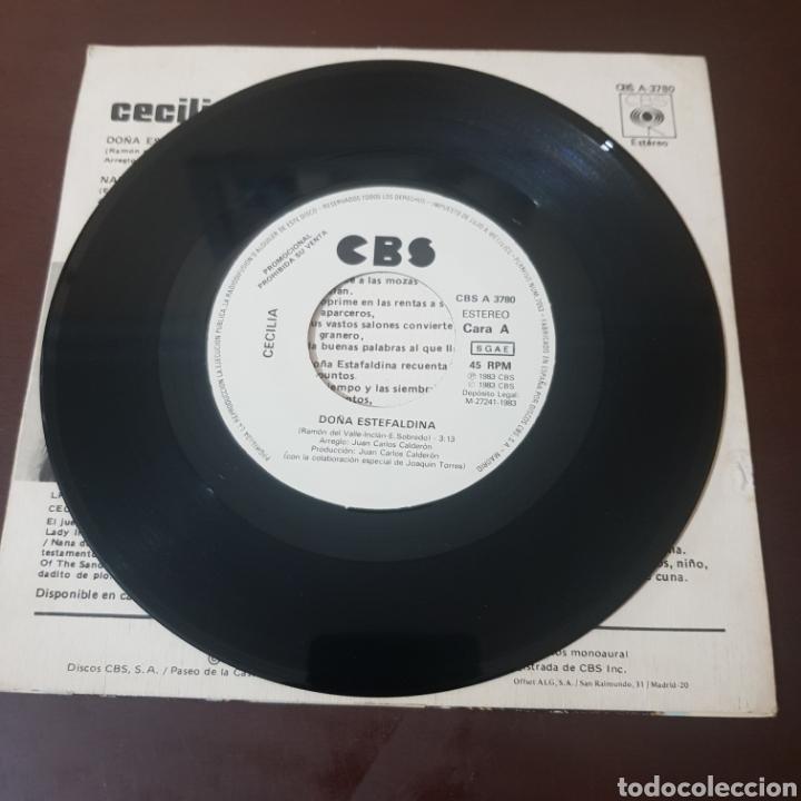 Discos de vinilo: CECILIA - DOÑA ESTEFALDINA - NANA DEL PRISIONERO 1983 SINGLE PROMOCIONAL CBS - Foto 3 - 236044060