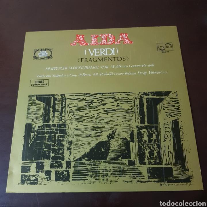 VERDI - AIDA ( FRAGMENTOS ) SERIE ETIQUETA DORADA - ZAFIRO (Música - Discos - LP Vinilo - Clásica, Ópera, Zarzuela y Marchas)