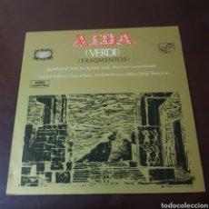 Discos de vinilo: VERDI - AIDA ( FRAGMENTOS ) SERIE ETIQUETA DORADA - ZAFIRO. Lote 236047855