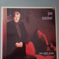 Discos de vinilo: LP-JOE COCKER-ONE NIGHT OF SIN. Lote 236050540