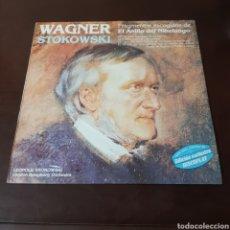 Discos de vinilo: WAGNER - STOKOWSKI - FRAGMENTOS ESCOGIDOS DE EL ANILLO DEL NIBELUNGO - LONDON SYMPHONY ORCHESTRA. Lote 236055120