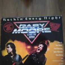 """Discos de vinilo: GARY MOORE """" ROCKIN' EVERY NIGHT """". EDICIÓN ESPAÑOLA. 1986. VIRGIN RECORDS.. Lote 236076665"""