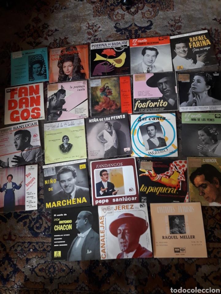 23 ANTIGUOS VINILOS DE DIVERSOS ARTISTAS ESPAÑOLES DE FLAMENCO (Música - Discos de Vinilo - Maxi Singles - Flamenco, Canción española y Cuplé)