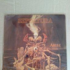 """Discos de vinilo: SEPULTURA """" ARISE """". EDICIÓN HOLANDESA. 1991. ROADRACER RECORDS.. Lote 236116035"""
