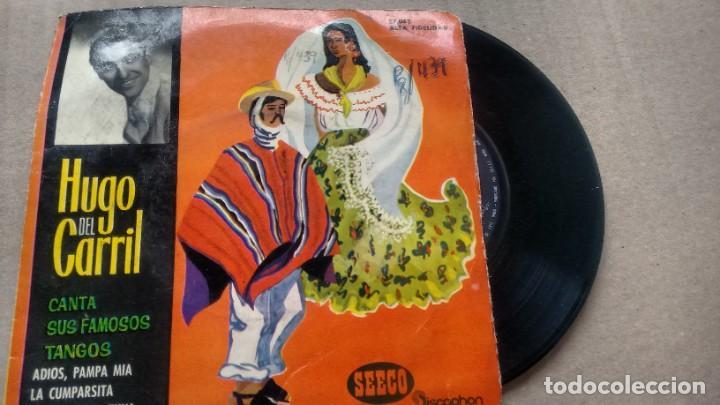 E.P. (VINILO) DE HUGO DEL CARRIL AÑOS 60 (Música - Discos de Vinilo - EPs - Grupos y Solistas de latinoamérica)