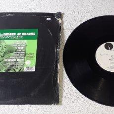 Discos de vinilo: ALICIA KEYS - A WOMAN'S WORTH - MAXI - USA - J RECORDS - PLS 442 - L -. Lote 236116905