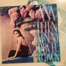 Discos de vinilo: ANA BELEN, VENENO PARA EL ORAZÓN, ENCARTE, ESPAÑA 1993, ARIOLA – 74321147861 (EX_EX). Lote 236118825