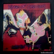 Discos de vinilo: KINGS OF OBLIVION - WASTER MACHINE . LP UK CON ENCARTE 1991 - IN YOUR FACE. Lote 236118830