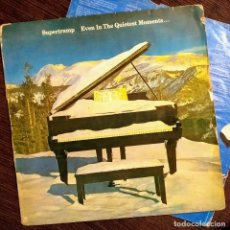 Discos de vinilo: SUPERTRAMP, EVEN IN THE QUIETEST MOMENTS, ESSPAÑA 1977, ENCARTE (G+_G+). Lote 236120830