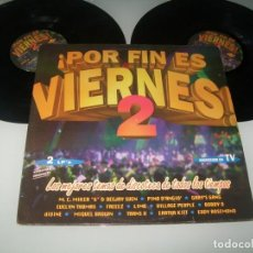 Disques de vinyle: POR FIN ES VIERNES PORTADA ABIERTA .. 2LP´S .. VILLAGE PEOPLE. GIBSON BROTHERS. LIME. MICHAEL ZAGER. Lote 236124060