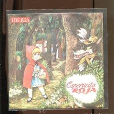 Discos de vinilo: CAPERUCITA ROJA. IBERIA 1964. PUBLICIDAD SKIP. Lote 236125565