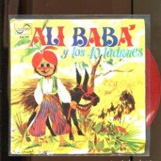 Discos de vinilo: ALI BABA Y LOS CUARENTA LADRONES. ZAFIRO 1967. VINILO ROJO. RARO. Lote 236126570