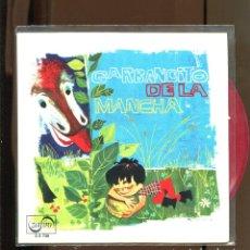 Discos de vinilo: GARBANCITO DE LA MANCHO. ZAFIRO 1966. VINILO ROJO. PERFECTO. Lote 236128045