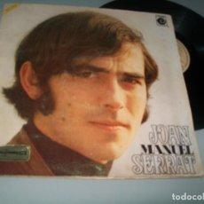 Disques de vinyle: JOAN MANUEL SERRAT - LP MISMO NOMBRE ..LP DE PORTADA ABIERTA ..CON HOJAS CENTRALES DE 1969. Lote 236128250