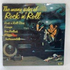 Discos de vinilo: LP - VINILO THE MANY SIDES OF ROCK'N'ROLL - DOBLE PORTADA + LIBRETO INTERIOR - ESPAÑA - AÑO 1975. Lote 236139935