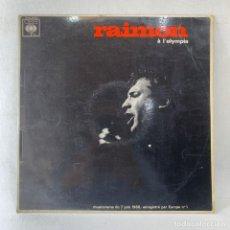 Discos de vinilo: LP - VINILO RAIMON - RAIMON À L'OLYMPIA - FRANCIA - AÑO 1966. Lote 236140705