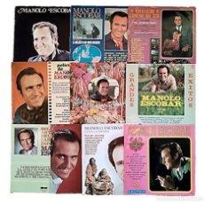 Discos de vinilo: MANOLO ESCOBAR - COLECCIÓN 10 ANTIGUOS LPS. Lote 236141570