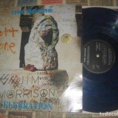 Discos de vinilo: THE DOORS - CELEBRATION -(1989) -THE SWINGIN´PIG-TSP 022 VINILO AZUL+FOTO POSTAL R1. Lote 236142145