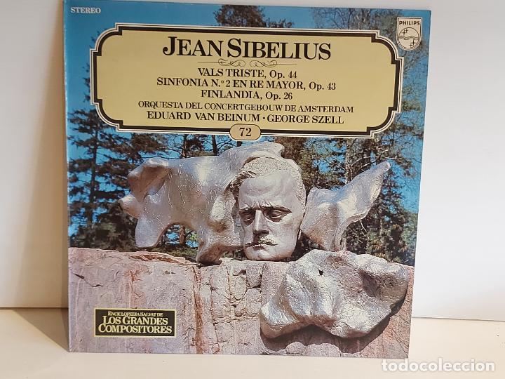 JEAN SIBELIUS / LOS GRANDES COMPOSITORES - SALVAT / 72 / LP - PHILIPS / MBC. ***/*** (Música - Discos - LP Vinilo - Clásica, Ópera, Zarzuela y Marchas)