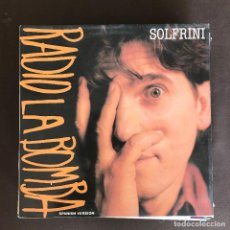 Discos de vinilo: ALBERTO SOLFRINI - LA RADIO ES LA BOMBA (SPANISH VERSION) - 12'' MAXISINGLE VIRGIN 1988. Lote 236145595