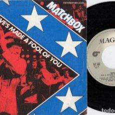 Discos de vinilo: MATCHBOX - LOVE'S MADE A FOOL OF YOU - SINGLE DE VINILO EDICION ESPAÑOLA - NEO ROCKABILLY #. Lote 236148245