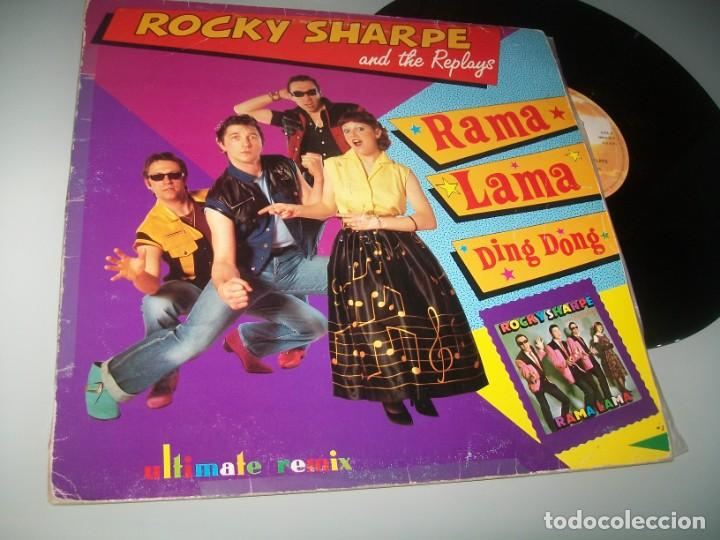 ROCKY SHARPE AND THE REPLAYS - RAMA LAMA DING DONG - MAX MUSIC - EXTENDED MIX NUEVA VERSION - DANCE (Música - Discos de Vinilo - Maxi Singles - Rock & Roll)