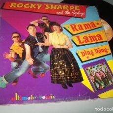 Discos de vinilo: ROCKY SHARPE AND THE REPLAYS - RAMA LAMA DING DONG - MAX MUSIC - EXTENDED MIX NUEVA VERSION - DANCE. Lote 236149070