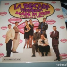Discos de vinilo: LA DECADA PRODIGIOSA - LA CHICA QUE YO QUIERO + FANTASMA EDICION MAXI LARGA .. EUROVISIÓN 1988. Lote 236149895