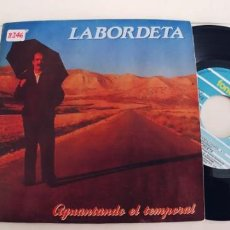 Discos de vinilo: LABORDETA-SINGLE AGUANTANDO EL TEMPORAL. Lote 236152205
