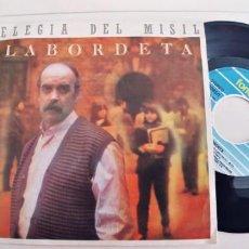 Discos de vinilo: LABORDETA-SINGLE ELEGIA DEL MISIL. Lote 236152360
