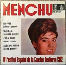 Discos de vinilo: MENCHU. Lote 236153030