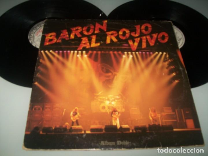 BARON ROJO - AL ROJO VIVO DOBLE LP ..2 DISCOS DE 1984 - CARPETA ABIERTA - CHAPA - SERDISCO (Música - Discos - LP Vinilo - Heavy - Metal)