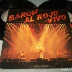 Discos de vinilo: BARON ROJO - AL ROJO VIVO DOBLE LP ..2 DISCOS DE 1984 - CARPETA ABIERTA - CHAPA - SERDISCO. Lote 236167190