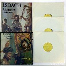 Discos de vinilo: ESTUCHE 3 LP - JOHANN SEBASTIAN BACH - JOHANNES PASSION - PASIÓN SEGÚN SAN JUAN - HUNGAROTON 1982. Lote 236183360