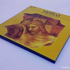 Discos de vinilo: ESTUCHE 3 LP - HÄNDEL/HAENDEL - MESSIÁS/EL MESÍAS -JOHN ELIOT GARDINER - HUNGAROTON 1983. Lote 236185005