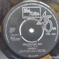 Discos de vinilo: JACKSON 5 ( MICHAEL JACKSON ) - 45 UK - HALLELUJAH DAY / TO KNOW. Lote 236186160