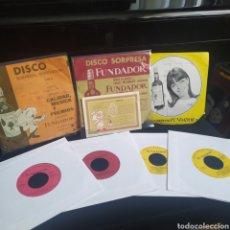 Discos de vinilo: LOTE 7 EP'S DISCO SORPRESA FUNDADOR + BOLETO SORTEO. Lote 236191975