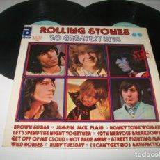 Discos de vinilo: ROLLING STONES - 30 GREATEST HITS ..2 LP´S DE - ABKCO - 1977 EDICION ESPAÑOLA. Lote 236199125