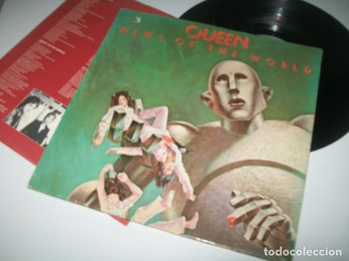 QUEEN - NEWS OF THE WORLD ..LP DE PORTADA ABIERTA - ORIGINAL DE 1977 CON LETRAS - BUEN ESTADO (Música - Discos - LP Vinilo - Pop - Rock - Extranjero de los 70)