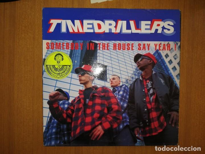LOTE DE 5 DISCOS VINILO. MÚSICA ELECTRONICA HIP-HOP. TIME DRILLERS. VER RESTO. VER FOTOS. (Música - Discos de Vinilo - Maxi Singles - Rap / Hip Hop)
