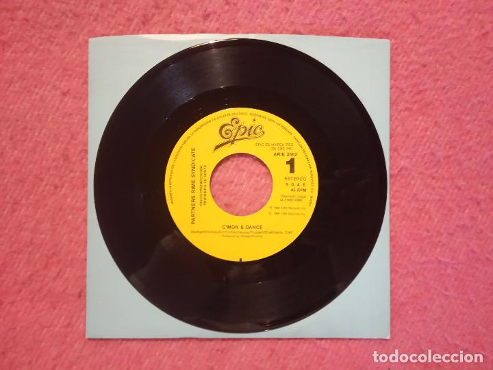 SINGLE PARTNERS RIME SYNDICATE - C'MON & DANCE - ARIE 2552 - SPAIN PROMO (-/NM) 1-SIDED (Música - Discos - Singles Vinilo - Rap / Hip Hop)