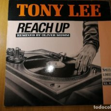 Discos de vinilo: DISCO VINILO TONY LEE- REACH UP.REMIXED BY OLIVER MOMM.1989. VER FOTOS.. Lote 236220645