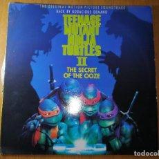 Disques de vinyle: DISCO VINILO BANDA SONORA TORTUGAS NINJA. TÍTULO ORIGINAL INGLES.1991. VER FOTOS.. Lote 236221700