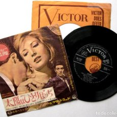 Discos de vinilo: GIOVANNI FUSCO/ M.ANTONIONI / ALAIN DELON / MONICA VITTI - EL ECLIPSE - SINGLE VICTOR 1962 JAPAN BPY. Lote 182074826