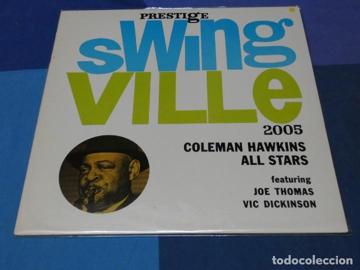 LOTT110 LP JAZZ UK 70S PRESTIGE SWINGVILLE 2005 COLEMAN HAWKINS ALL STARS MUY BUEN ESTADO (Música - Discos - LP Vinilo - Rock & Roll)